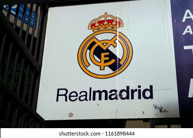 "NOVEMBER 2017 - MADRID: the logo of the football club ""Real Madrid""."