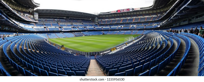 NOVEMBER 2017 - MADRID: panorama of the Santiago Bernabeu stadium of the spanish football club Real Madrid.