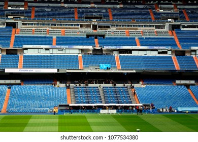 NOVEMBER 2017 - MADRID: the Santiago Bernabeu stadium of the spanish football club Real Madrid.