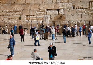 NOVEMBER 2018 - JERUSALEM: Western Wall, Jerusalem, Israel.
