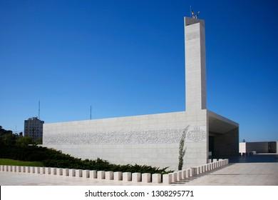 NOVEMBER 2018 - RAMALLAH: Arafat Mausoleum, Ramallah, Westbank, Palestine.