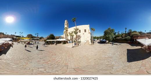 NOVEMBER 2018 - TEL AVIV:  Panorama: St Peters Church, Jaffa, Israel.
