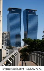 NOVEMBER 2018 - TEL AVIV: skyscraper, Israel.