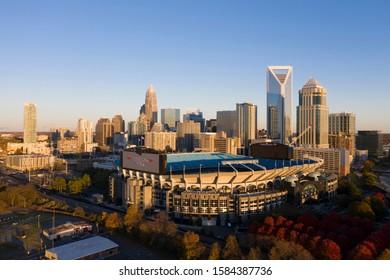 November 24, 2019 - Charlotte, North Carolina, USA: Bank of America Stadium is home to the NFL's Carolina Panthers in Charlotte, NC.
