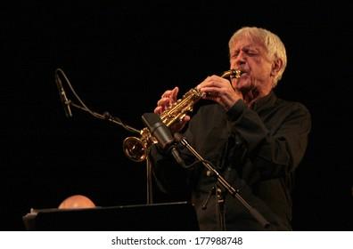 "NOVEMBER 3, 2012 - BERLIN: Michael Portal - concert of the ""Michael Portal Quartet"", Jazzfest 2012, Berlin."