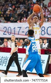 November 3, 2017 - Beijing, China: Stephon Marbury of Beijing shoots during a China Basketball Association game between Beijing Fly Dragon and Qingdao Eagles, on November 3, 2017, Beijing, China.