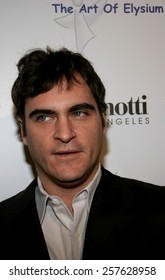 """November 30, 2005 - Hollywood - Joaquin Phoenix at The Art of Elysium Presents Russel Young """"fame, shame and the realm of possibility"""" at the Minotti Los Angeles in West Hollywood, United States."""