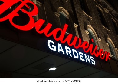 November 30 2014 London Ontario Canada. London's arena and entertainment complex renamed to Budweiser Gardens attracts big name acts and thousands of people who come to be entertained.