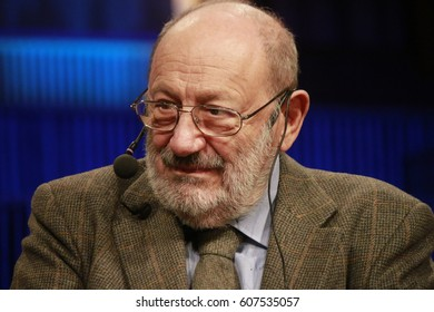 "NOVEMBER 30, 2015 - BERLIN: Umberto Eco before a reading of his latest novel ""Numero Zero"", Haus des Rundfunks."
