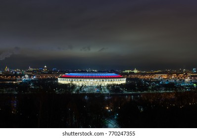 November 4, 2017 Moscow, Russia. Luzhniki stadium in Moscow, where the matches of the 2018 FIFA World Cup will be held
