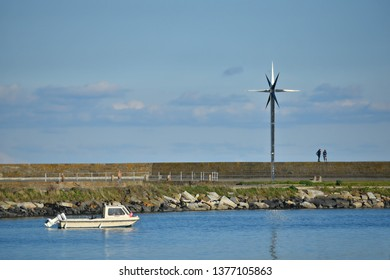 November 4, 2018. Panoramic view of the Howth Star of the Sea sculpture in Port of Howth, County Leinster Dublin Ireland.