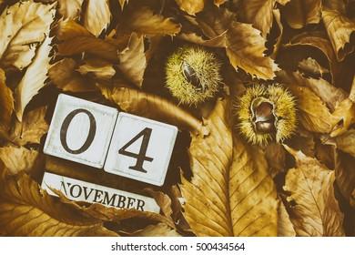 November 4th Calendar