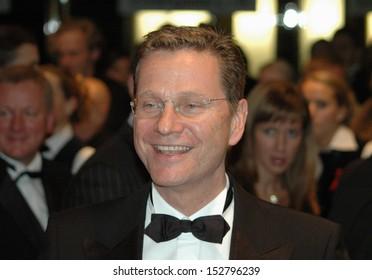 "NOVEMBER 5, 2005 - BERLIN: Guido Westerwelle attends the ""AIDS-Gala"" of the AIDS Foundation in the German Opera House (Deutsche Oper) in Berlin."