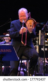 """NOVEMBER 5, 2011 - BERLIN: Nils Landgren at a concert of the """"NDR Bigband"""", Jazzfest 2011, Berlin."""