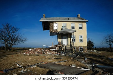 November 5, 2013 - The iconic half house of Union Beach, New Jersey is seen after Superstorm Sandy