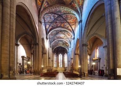 November 5, 2018 - Arezzo, Tuscany, Italy. Inside the Arezzo Cathedral