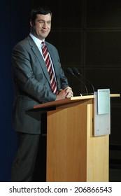 NOVEMBER 7, 2005 - BERLIN: Markus Soeder at a press conference in the Willy-Brandt-Haus, Berlin-Kreuzberg.