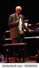 """NOVEMBER 7, 2009 - BERLIN: Hank Jones during a concert of the """"Hank Jones Trio"""" at the Jazzfest 2009, Haus der Berliner Festspiele, Berlin."""