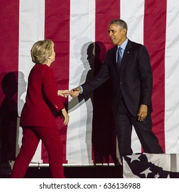NOVEMBER 7, 2016, INDEPENDENCE HALL, PHIL., PA - President Obama and Democratic Presidential Candidate Hillary Clinton Hold Election Eve Get Out The Vote Rally, Independence Hall, Phil., PA