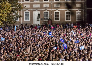 NOVEMBER 7, 2016, INDEPENDENCE HALL, PHIL., PA - Thousands attend Hillary Clinton Election Eve Get Out The Vote Rally With President and Michelle Obama and Bill and Chelsea Clinton.