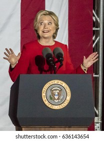 NOVEMBER 7, 2016, INDEPENDENCE HALL, PHIL., PA - Hillary Clinton Holds Election Eve Get Out The Vote Rally With President and Michelle Obama and Bill and Chelsea Clinton.