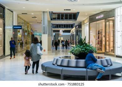 November 8, 2017 San Jose/CA/USA - People shopping at Westfield Valley Fair Mall
