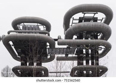 November 9, 2017 - Istra, Russia. Tesla Coil or Arkadiev-Marx Generator.