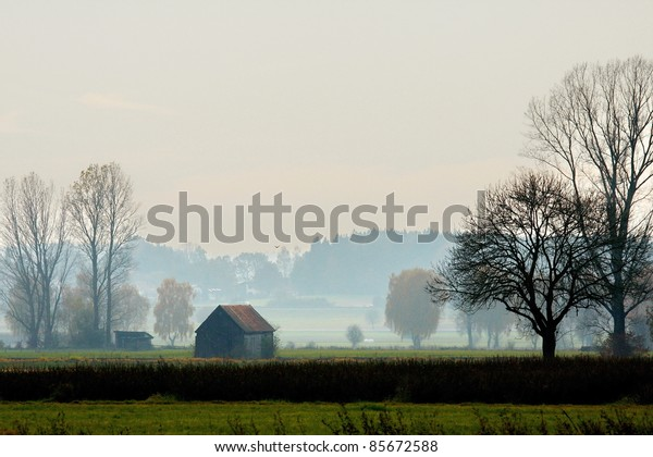 november typical landscape in Bavaria