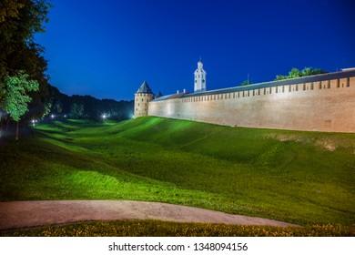 Novgorod, Novgorod region / Russia - 21.07.2017: Novgorod Kremlin