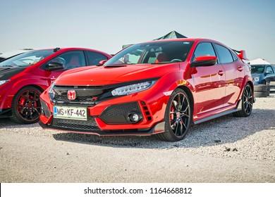 Novi Marof, Croatia. April 28, 2018:  Honda Civic Type-R track day Novi Marof