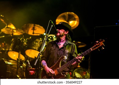 NOVI SAD - JULY 10 : Lemmy Kilmister founding member and singer in the British heavy metal band Motörhead performs at music festival Exit on July 10, 2015 in Novi Sad, Petrovaradin Fortress, Serbia
