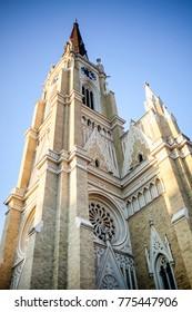 NOVI SAD, SERBIA -  Catholic cathedral in Serbian town, Novi Sad