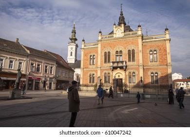NOVI SAD, SERBIA - JANUARY, 04 2017: Bishop's Palace in Novi Sad, Serbia