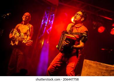 NOVI SAD, SERBIA - JULY 10: Che Sudaka perform at EXIT 2014 Best Major European Music Festival, on July 10, 2014 at the Petrovaradin Fortress in Novi Sad, Serbia.