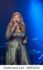 NOVI SAD, SERBIA - JULY 11: Gloria Gaynor performs at EXIT 2014 Best Major European Music Festival, on July 11, 2014 at the Petrovaradin Fortress in Novi Sad, Serbia.