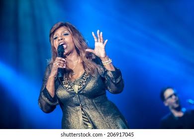 NOVI SAD, SERBIA - JULY 11: Gloria Gaynor performs at EXIT 2014 Best Major European Music Festival, on July 11, 2014 at the Petrovaradin Fortress in Novi Sad, Serbia.