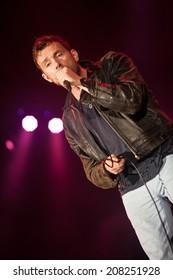 NOVI SAD, SERBIA - JULY 12: Damon Albarn performs at EXIT 2014 Best Major European Music Festival, on July 12, 2014 at the Petrovaradin Fortress in Novi Sad, Serbia.