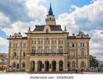 Novi Sad, Serbia July 16, 2019: City house in Novi Sad