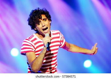 NOVI SAD, SERBIA - JULY 8: Mika performing on the Best European Music Festival - EXIT 2010, on July 8, 2010 in the Petrovaradin Fortress in Novi Sad.