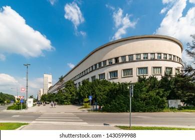 Novi Sad, Serbia - June 19, 2019: Provincial government building in the center of Novi Sad
