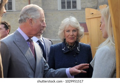 Novi Sad, Serbia, March 17, 2016: Britain's Prince Charles and the Duchess of Cornwall arrived in Novi Sad  as they continued their visit to Serbia.
