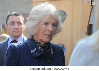 Novi Sad, Serbia - March 17, 2016: Britain's Prince Charles and the Duchess of Cornwall arrived in Novi Sad Thursday as they continued their visit to Serbia