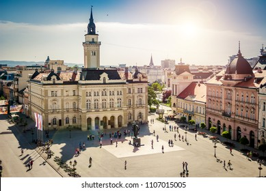 Novi Sad, Serbia - May 02, 2018: Main Square And City Hall Of Novi Sad, Serbia