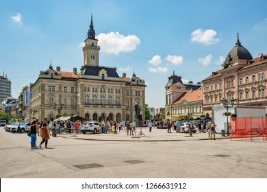 Novi Sad, Serbia - May 27, 2018: Police Day marked at Freedom Square (Trg Slobode) in Novi Sad.