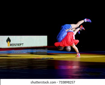 Novi Sad, Serbia - October 13, 2017: World Youth & Junior SAMBO Championships 2017 Novi Sad, Serbia