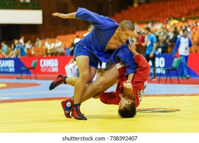 Novi Sad, Serbia - October 15, 2017: World Youth & Junior SAMBO Championships 2017 Novi Sad, Serbia