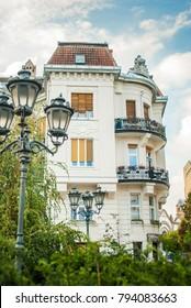 Novi Sad, Serbia - October 28, 2016: Part of the architecture of Novi Sad, Serbia