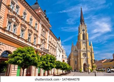 Novi Sad square and architecture street view, Vojvodina region of Serbia - Shutterstock ID 1474844078