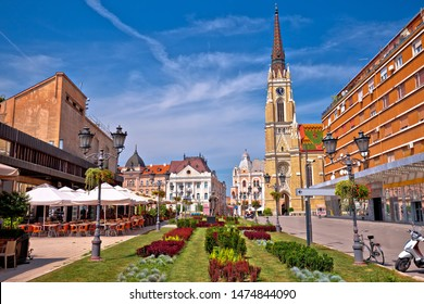Novi Sad square and architecture street view, Vojvodina region of Serbia - Shutterstock ID 1474844090