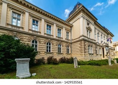 Novi Sad, Vojvodina, Serbia - June 19, 2019: Building of Museum of Vojvodina at the center of the City of Novi Sad, Vojvodina, Serbia